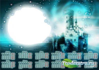 Рамочка календарь для фотошопа - Ночной замок