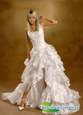 Шаблон для фотошопа - Белое платье
