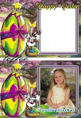 Детская рамка для фотошопа - Христос воскрес!