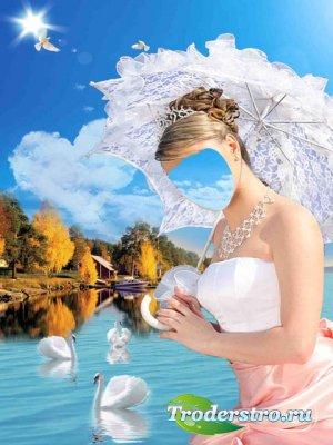 Шаблон для фотошопа – Лебединое озеро