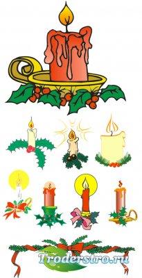 Клипарт для фотошопа - Свечи