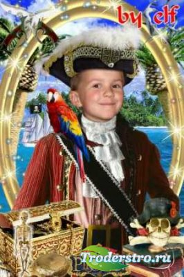 Шаблон для фотошопа - Маленький пират
