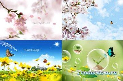 Природа (Nature) - 4 PSD исходника для фотошопа