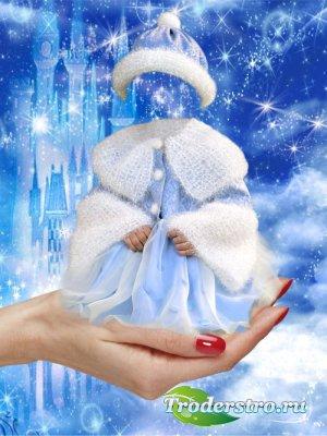Шаблон для фотошопа – Моя снежная прелесть