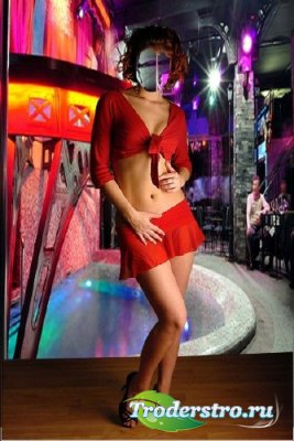 Шаблон для фотошопа – Девушка в клубе