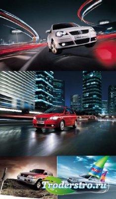 Автомобили - PSD исходники для фотошопа