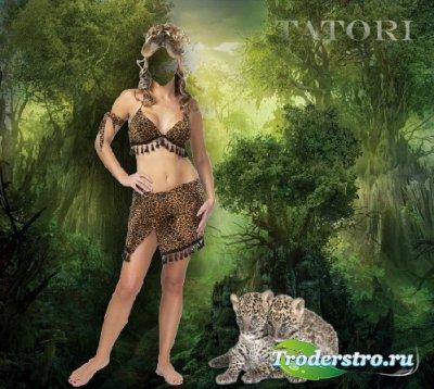 Шаблон для фотошопа - Королева джунглей