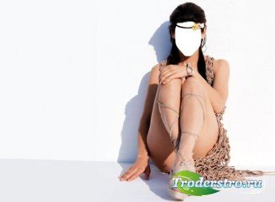 Шаблон для фотошопа - Индейская девушка