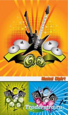 Musical clipart - Клипарт для фотошопа