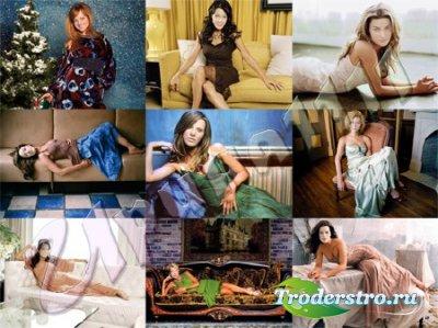 Шаблоны для фотошопа - Девушки в вечерних платьях