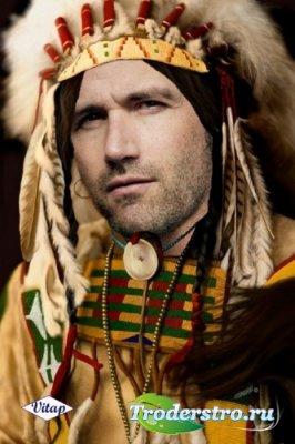 Шаблон для фотошопа – Вождь племени