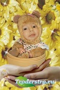 Шаблон для фотошопа - Медвежонок