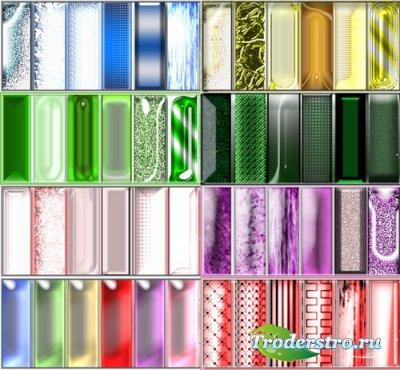 Стили для Photoshop - Разноцветное Стекло