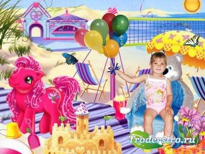 Детский фотошаблон - Отдых