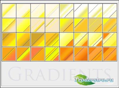 Жёлтые и оранжевые градиенты для фотошопа