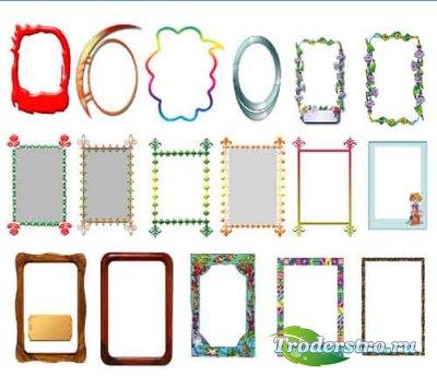 Набор рамок №1 для оформления фото
