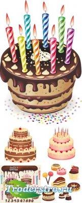 Cakes Vector - Клипарт для фотошопа