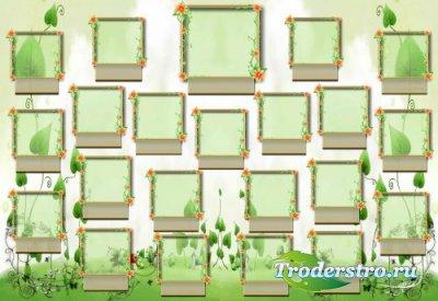 Виньетка для фотошопа - Зелёная