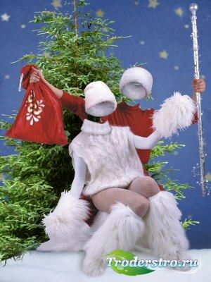 Дед Моpоз и Снегуpочка - Новогодние виpтуалные костюмы для фотошопа