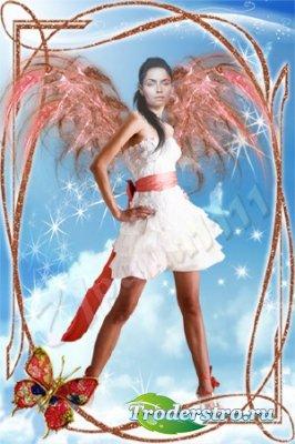 Женский шаблон для фотошопа - И все-таки ангел