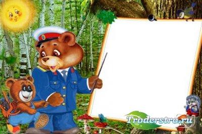 Рамочка детская для фотошопа - Лесные правила