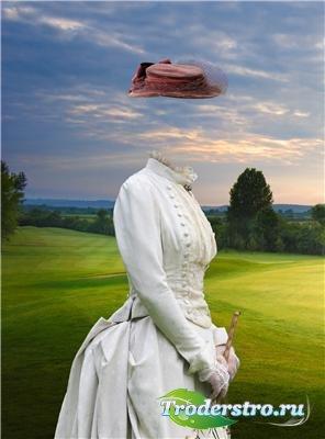 Шаблон для фотошопа - Старинный костюм