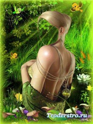 Шаблон для фотошоп – Лесная фея