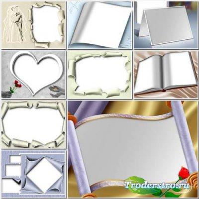 Рамки для свадебных фото в формате PNG