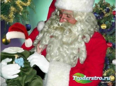 Новогодний шаблон для фотошопа - Санта