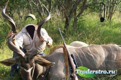 Рамка для фотошопа – Охота на антилопу
