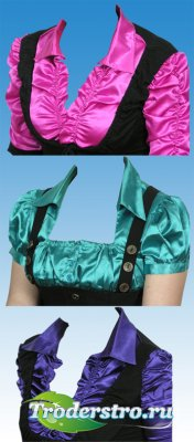 Женская одежда для фотошопа - 3 блузки