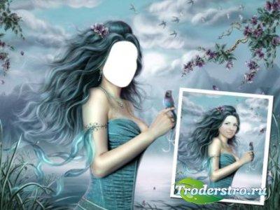 Шаблон для фотошопа – Девушка-загадка