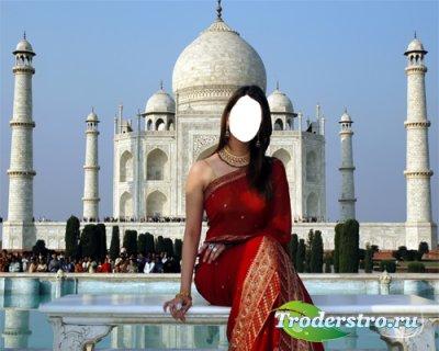 Шаблон для фотошопа - Индийская Девушка