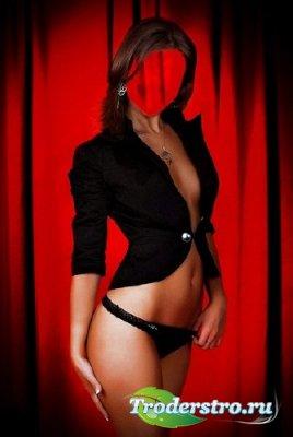 Шаблон для фотошопа – Девушка в черном