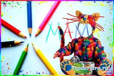 Детский шаблон для фотошопа - Маленький художник