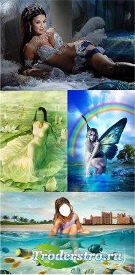 Шаблоны для фотошопа - Девушки - 3