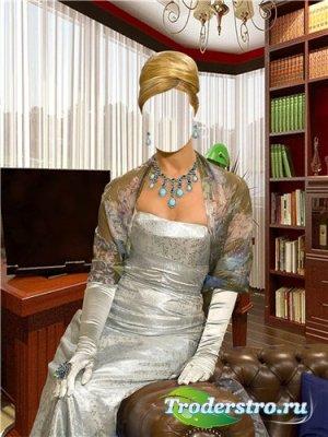 Шаблон для фотошоп – Элегантная дама