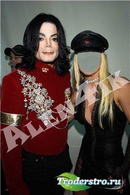 Шаблон для фотошопа - В память Майклу Джексону
