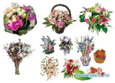 Клипарт для фотошопа - Букеты цветов