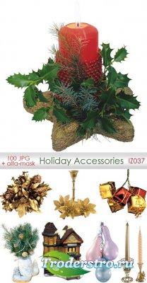 Holiday Accessories   Праздничные аксессуары - Клипарт для фотошопа