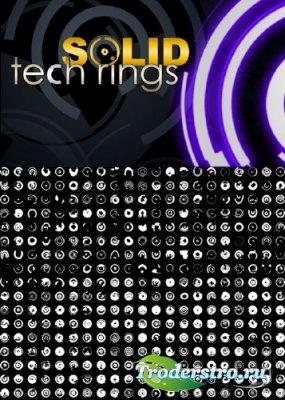 Кисти для фотошопа - Solid Tech Rings