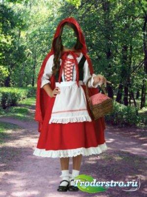 Шаблон для фотошопа – Красная шапочка