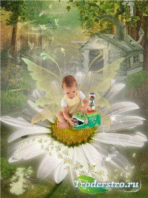 Шаблон для фотошопа – Сказочный мир феи