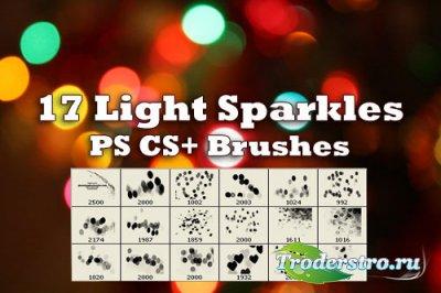 17 Sparkle of Lights Photoshop Brushes - Кисти для фотошопа