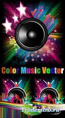 Color Music Vector - Векторный клипарт для фотошопа