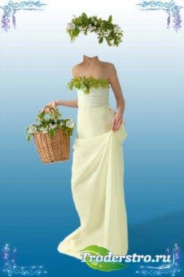 Шаблон для фотошопа – Девушка-весна