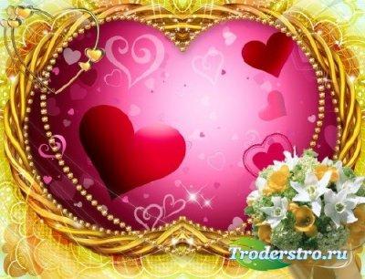 PSD рамка для фотошопа – Сердце