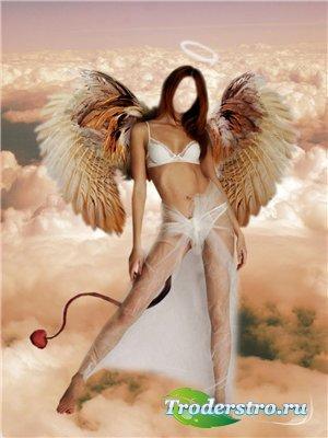 Женский шаблон для фотошопа - Я просто ангел