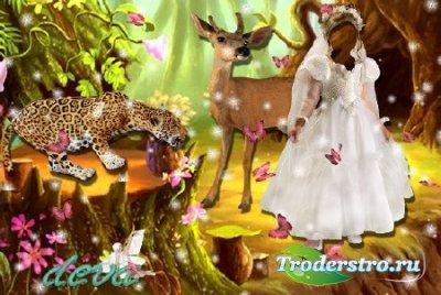 Шаблон для фотошопа - В сказочном лесу