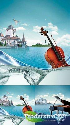 PSD исходник для фотошопа - Music 2